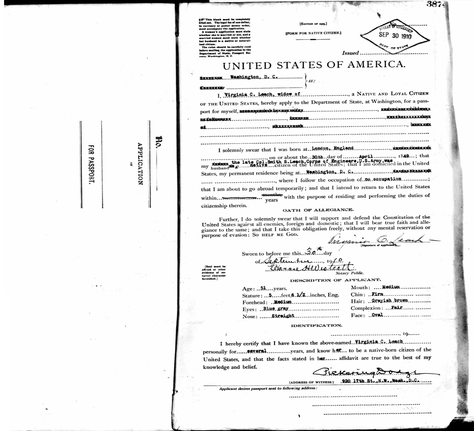 Probate england but 51 years old 2 widow of col smith s leach corps of engineers us army b probate document 1 died 26 sep 1912 c will solutioingenieria Gallery