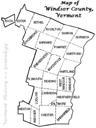 Windsor County Vermont History and Genealogy VTGenWeb