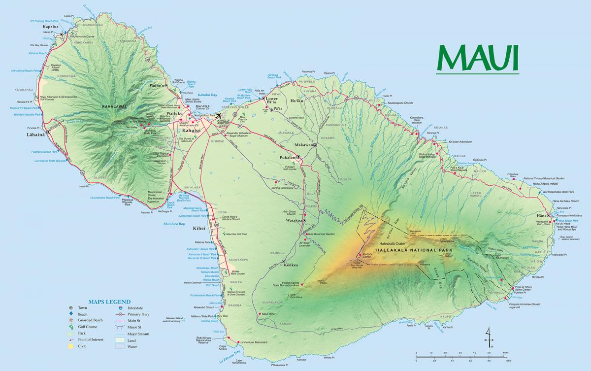 Maui Hawaii Map Maui Maps